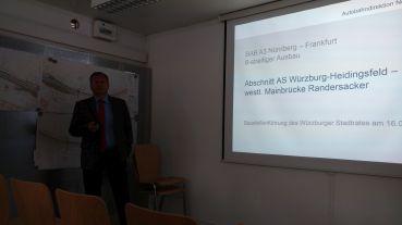 Begrüßung und Information durch Reinhard Pirner, den Präsidenten der Autobahndirektion Nordbayern